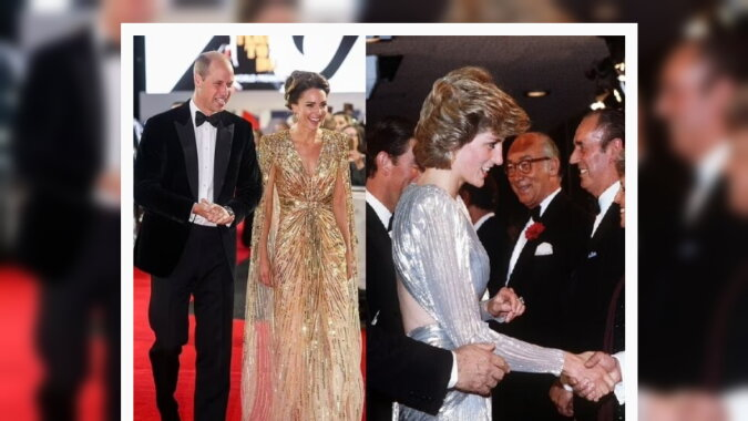 Kate Middleton und Prinzessin Diana. Quelle: dailymail.co.uk