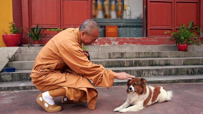 Der Mönch mit dem Hund. Quelle: travelask