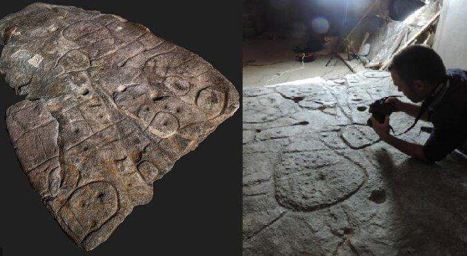 Steinplatte aus der Bronzezeit. Quelle:dailymail.co.uk