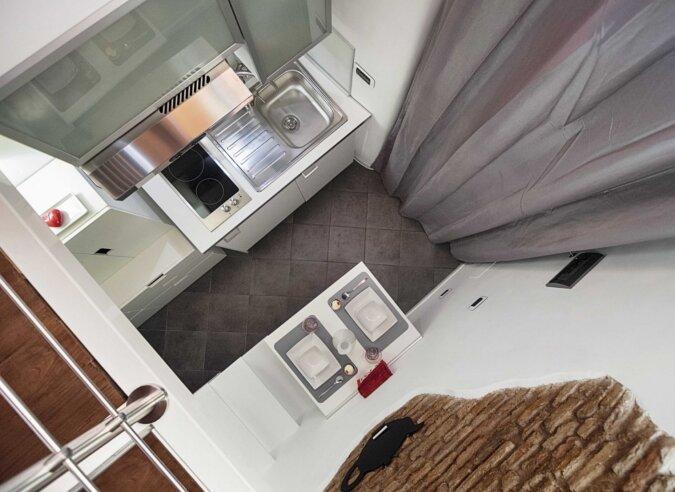 Die Zehn-Quadratmeter-Wohnung. Foto: Screenshot