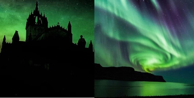 Polarlichter. Quelle:dailymail.co.uk