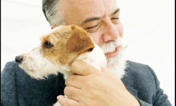 Ein alter Mann mit dem Hund. Quelle: zen.yandex