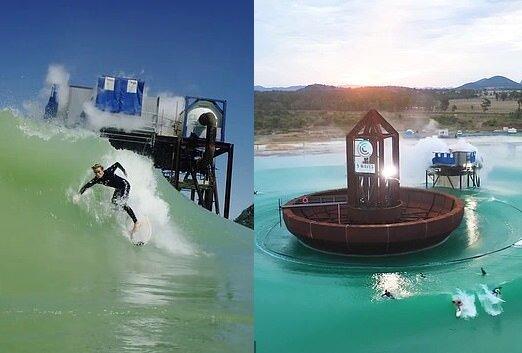Ein wellenerzeugender Surfpool. Quelle:dailymail.co.uk