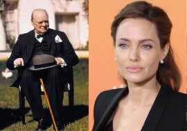 Winston Churchill und Angelina Jolie. Quelle: dailymail.co.uk