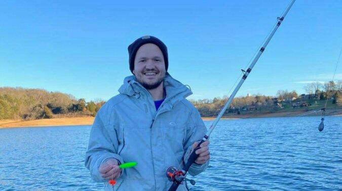 Der glückliche Fischer. Quelle: dayton247