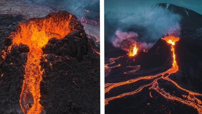 Der Ausbruch des Vulkans Fagradalsfjadl. Quelle: esquire