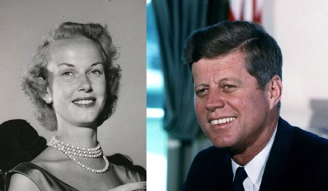 John F. Kennedy und Gunilla von Post. Quelle:dailymail.co.uk