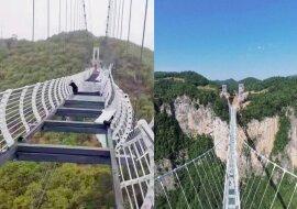 Die Brücke mit dem Glasboden. Quelle:dailymail.co.uk