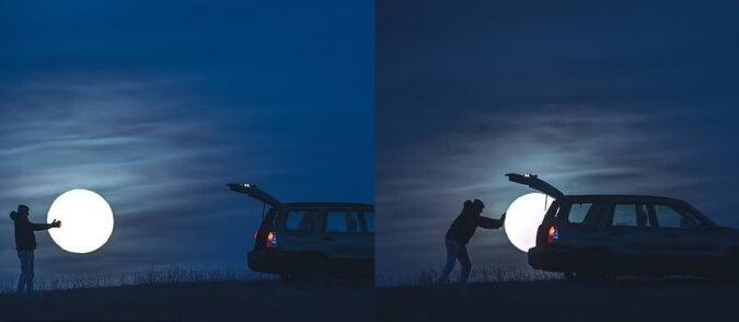 """""""Den Mond stehlen"""". Quelle:dailymail.co.uk"""