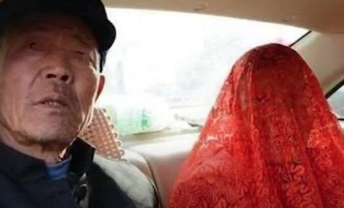 """""""Der glücklichste Tag im Leben"""": Die junge Frau war traurig, einen alten Mann zu heiraten, aber nach der Zeremonie wurde sie eine glückliche Ehefrau"""