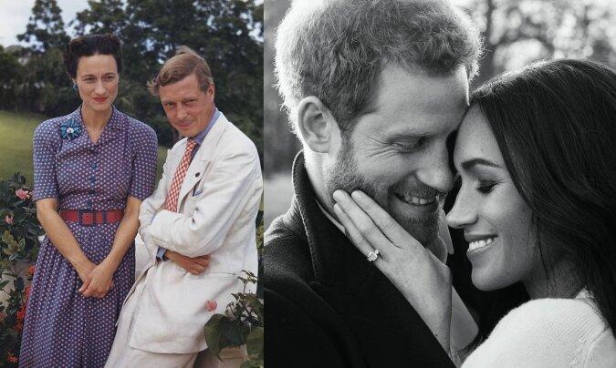 Edward VIII und Wallis Simpson, Harry und Meghan. Quelle:dailymail.co.uk