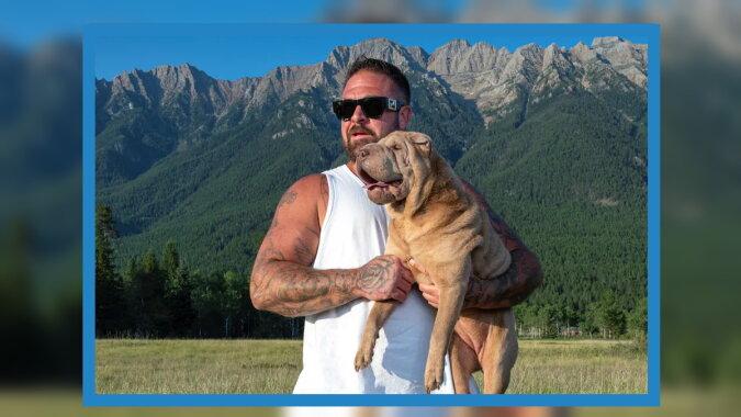 Brayden Morton mit dem Hund. Quelle: washingtonpost