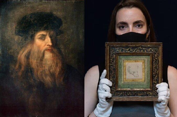 Leonardo Da Vincis Zeichnung. Quelle:dailymail.co.uk