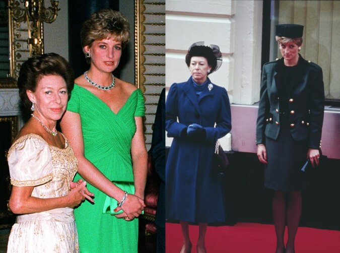 Prinzessin Margaret und Prinzessin Diana. Quelle: dailymail.co.uk