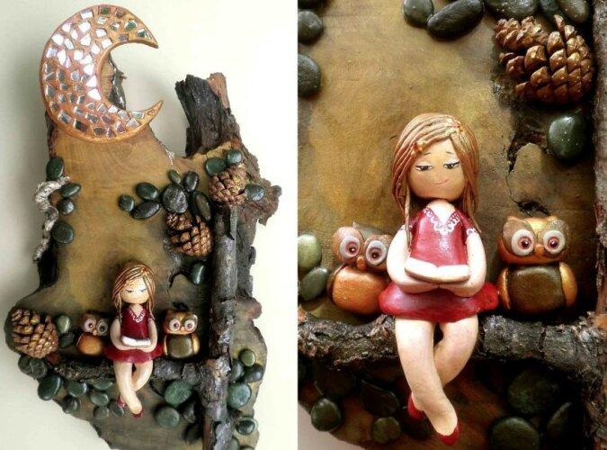 """""""Mit Liebe gemacht"""": Die Künstlerin erweckt schöne Szenen mit gebrauchten, natürlichen und recycelten Materialien zum Leben"""