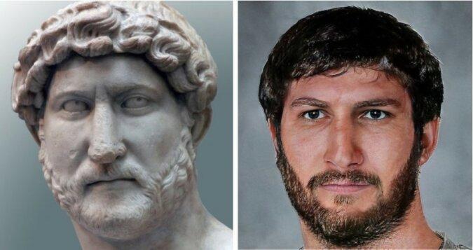 Römische Kaiser, deren Aussehen mit Hilfe von neuronalen Netzen und Photoshop wiederhergestellt wurde