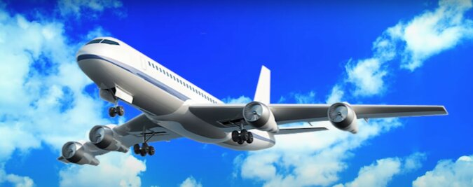 Flugzeug. Quelle: Screenshot YouTube