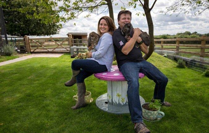 Das Paar gab sein ganzes Geld aus, um ein Paradies für seine lieben Kaninchen zu bauen
