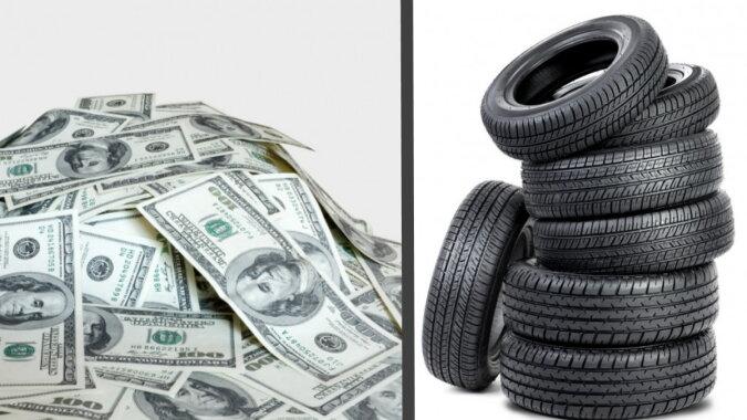 Geld und Reifen. Quelle: pinterest