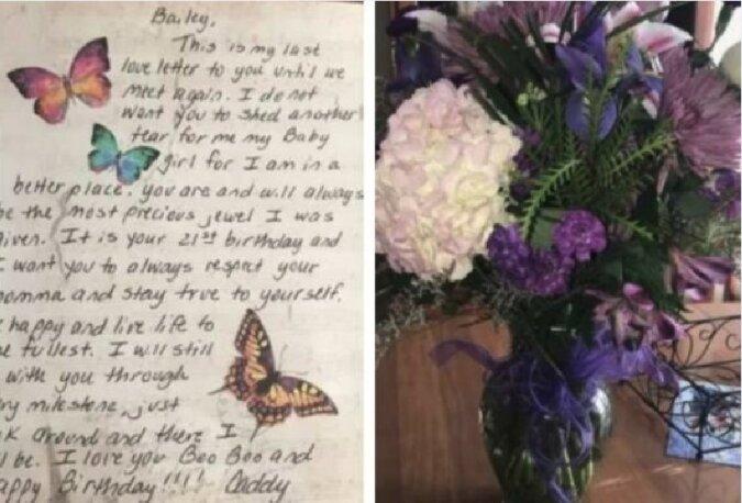 Liebe durch die Zeit: Auch wenn der Vater schon weg war, erhielt das Mädchen an seinem Geburtstag rührende Glückwünsche von ihm
