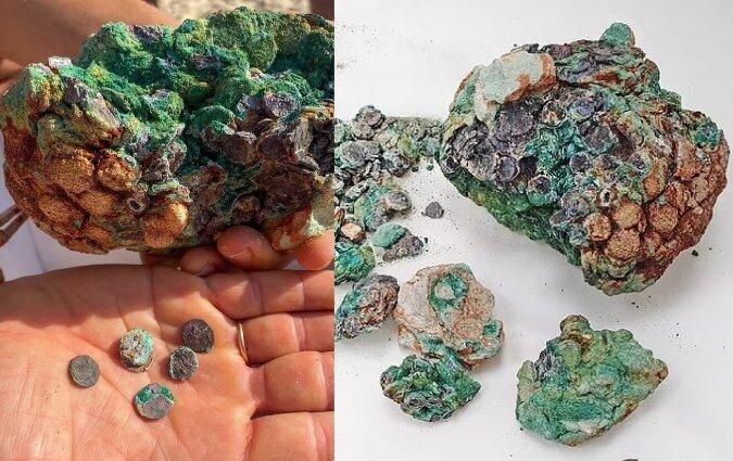 Antike Münzen. Quelle:dailymail.co.uk