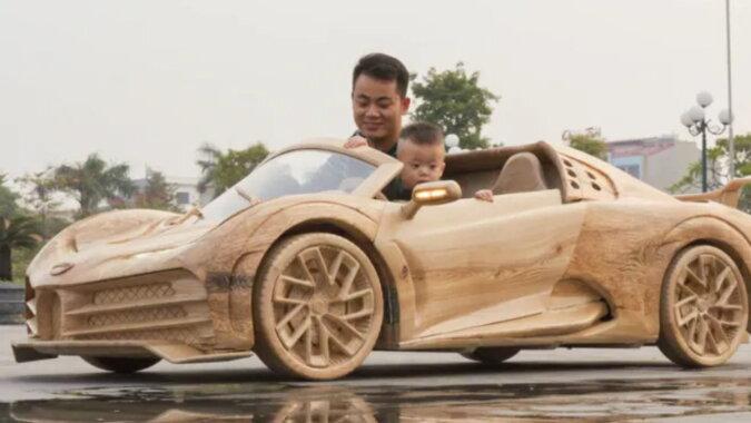 Truong Van Dao fährt Bugatti Centodirect mit seinem Sohn. Quelle: goodhouse