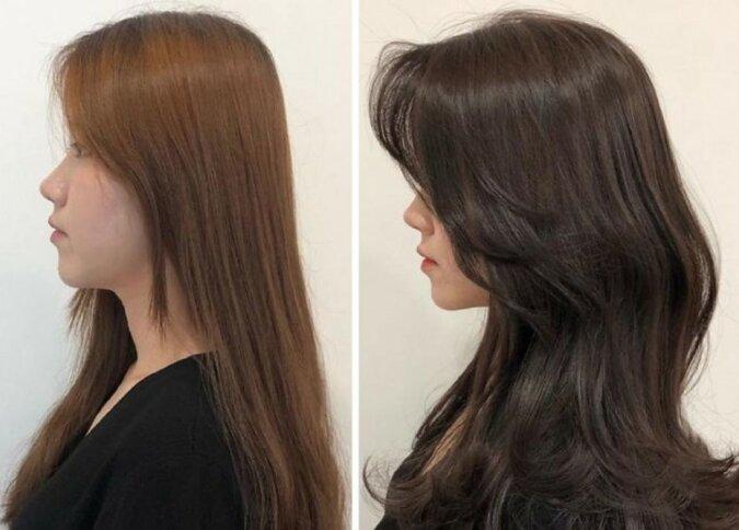 Koreanische Friseurin zeigt, wie passende Frisur Aussehen aufhellen kann