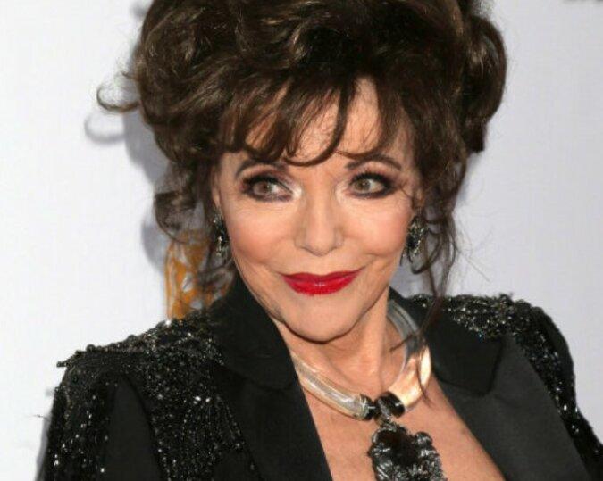 Die Dame in Schwarz: Hollywood-Legende Joan Collins tritt in der Öffentlichkeit mit jungem Ehemann auf