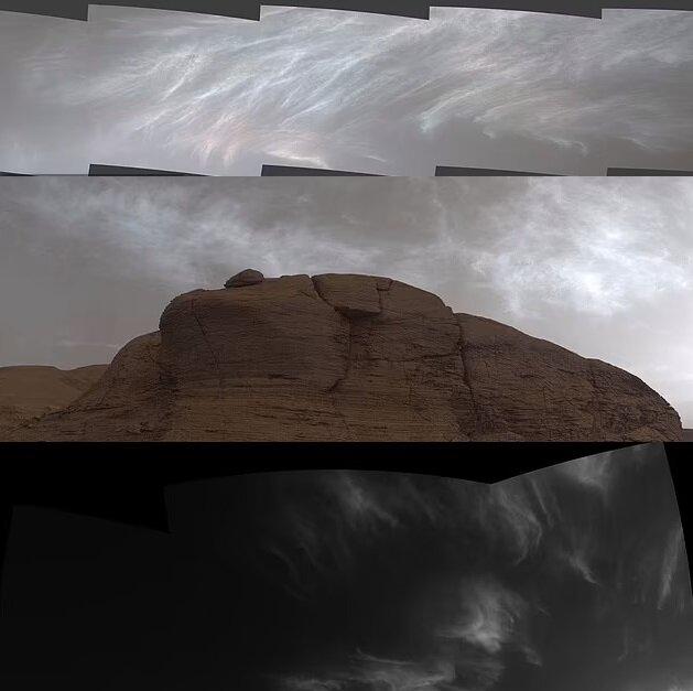 Wolken auf dem Mars. Quelle:dailymail.co.uk