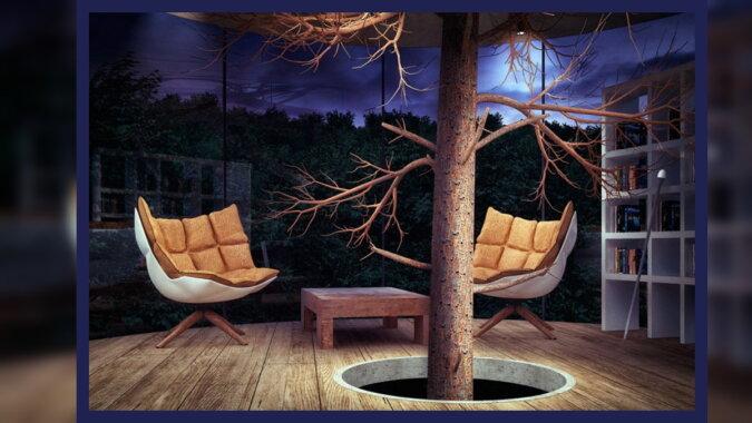 Ein Glashaus im Wald. Quelle: laykni.com
