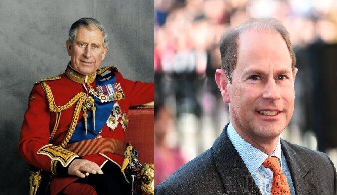 Prinz Charles und Prinz Edward. Quelle:dailymail.co.uk