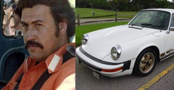 Porsche von Pablo Escobar. Quelle: dailymail.co.uk