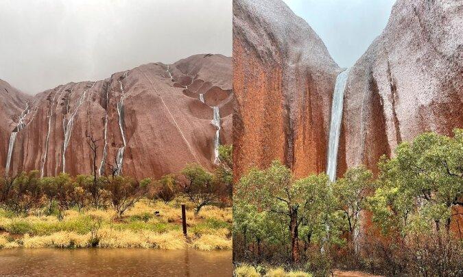 Felsformationen Uluru. Quelle:dailymail.co.uk